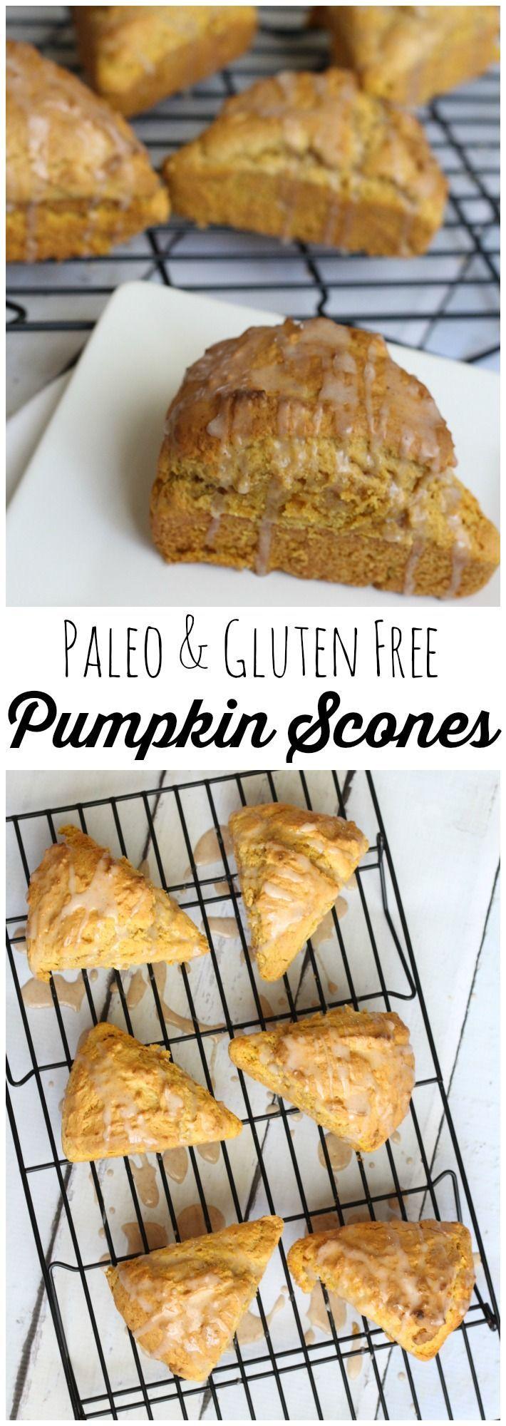 Paleo grain free pumpkin scone recipe with original and gluten free recipes.