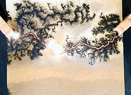 Dangerous but Beautiful: Fractal Lichtenberg Figure Wood Burning with Electricity