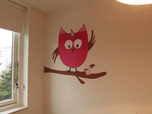 muurschildering babykamer uil - Google zoeken