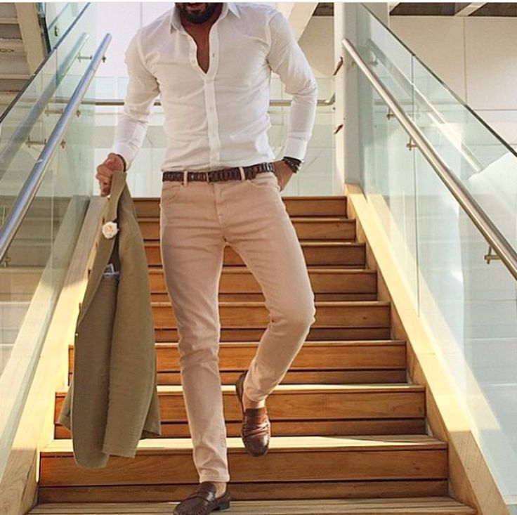 White shirts are never wrong.