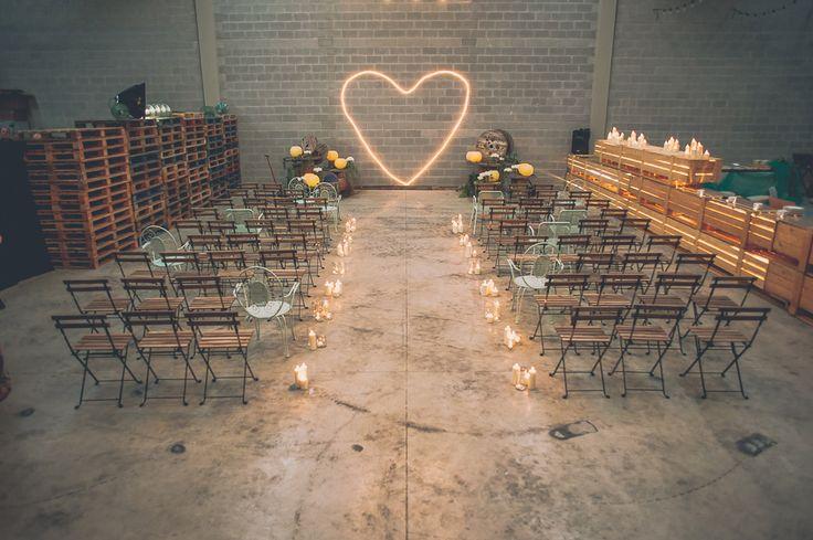 #SGWeddingGuide : Wedding decor inspiration - Industrial Warehouse Wedding in Spain.