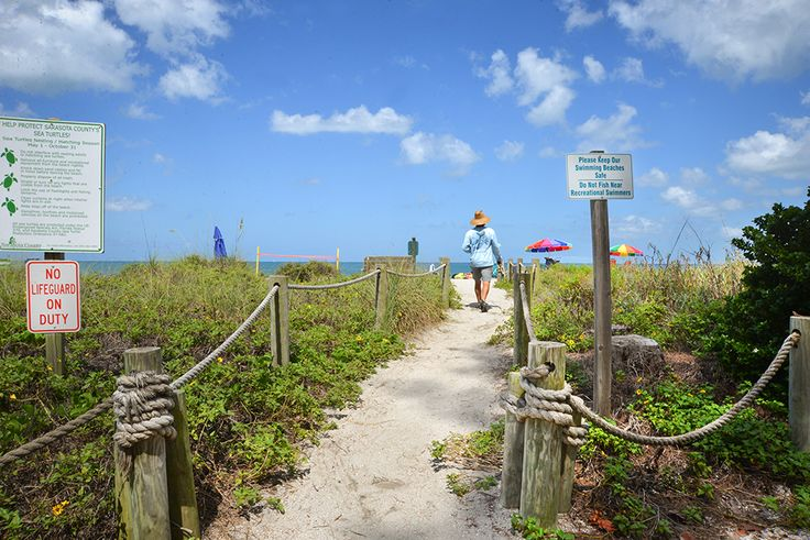 Turtle Beach Campground in Sarasota, Florida is right on the beach!