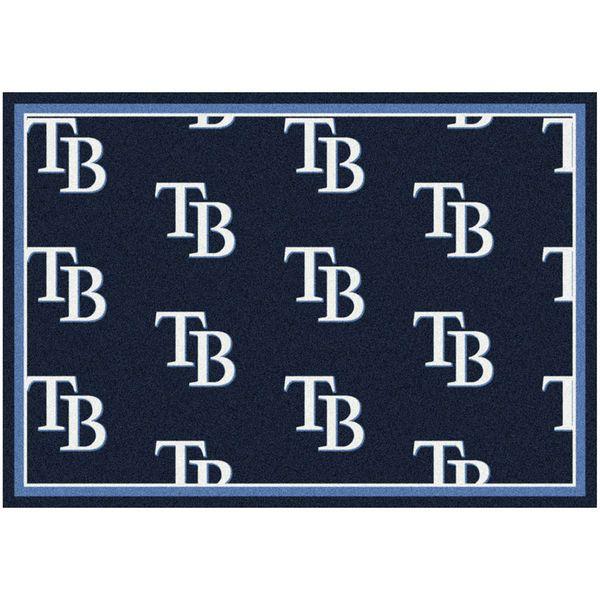 "Tampa Bay Rays 10'9"" x 13'2"" Repeating Rug - $859.00"