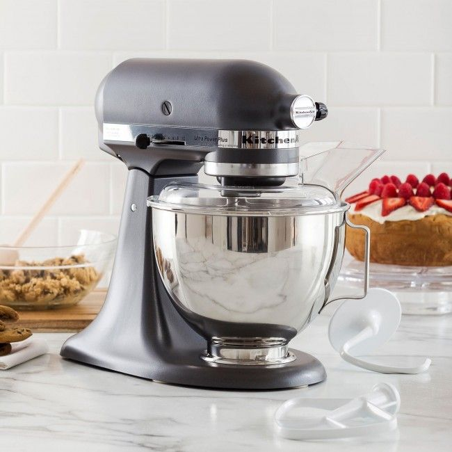 The KitchenAid Stand Mixer is the must have appliance for any kitchen. Great for beating, mixing and kneading dough, saving you time and effort on your kitchen tasks. With 300 watts of power, an 4.5 qt stainless steel bowl, 10-speed control and a mixing sheild, you'll be ready to start mixing right out of the box.