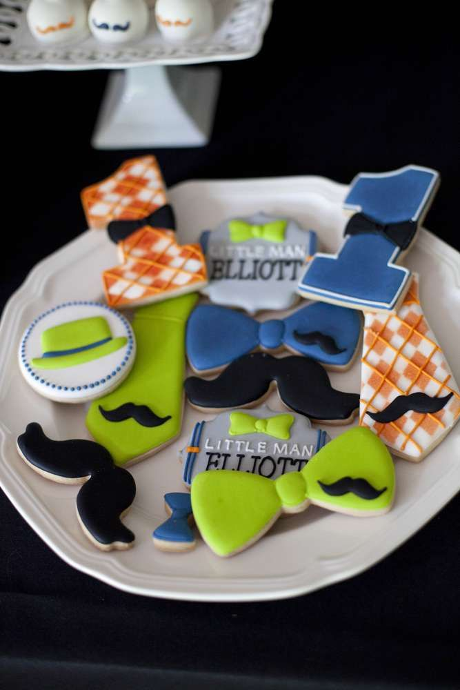 Fantastic cookies at a little man mustache birthday party! See more party ideas at CatchMyParty.com!