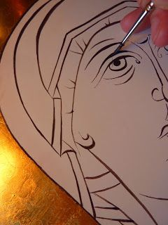 "The Catholic Illustrator's Guild: Stages of a ""Hodigitria"" icon"