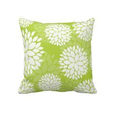 Lime Green And White Cushions