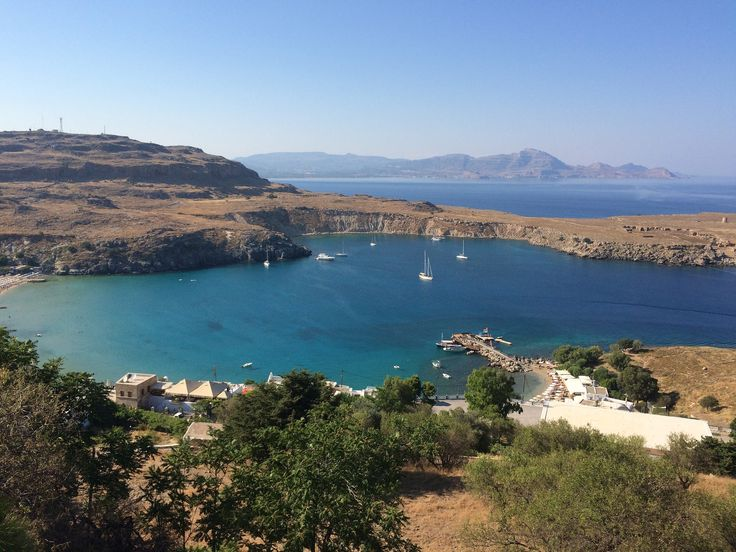 View from the Acropolis at Lindos, Rhodes https://www.flickr.com/photos/tracy_the_astonishing/18791483434/