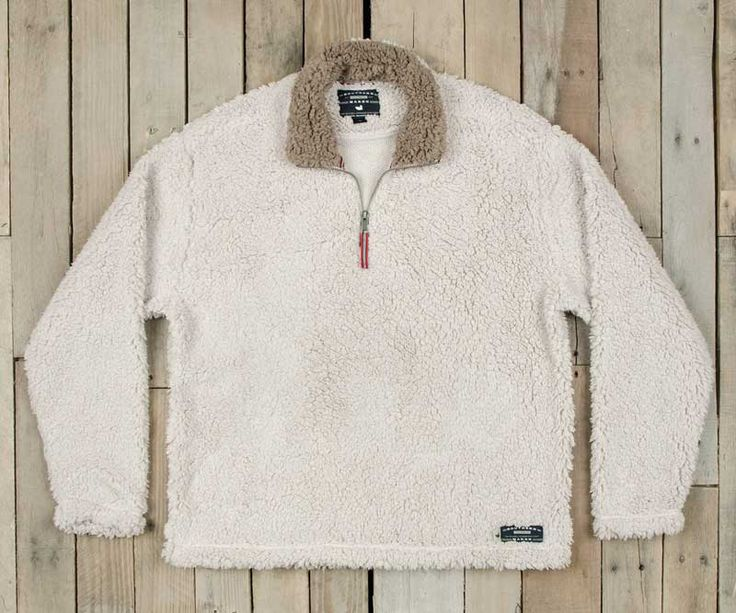 Southern Marsh Appalachian Pile Quarter Zip Pullover in Oatmeal