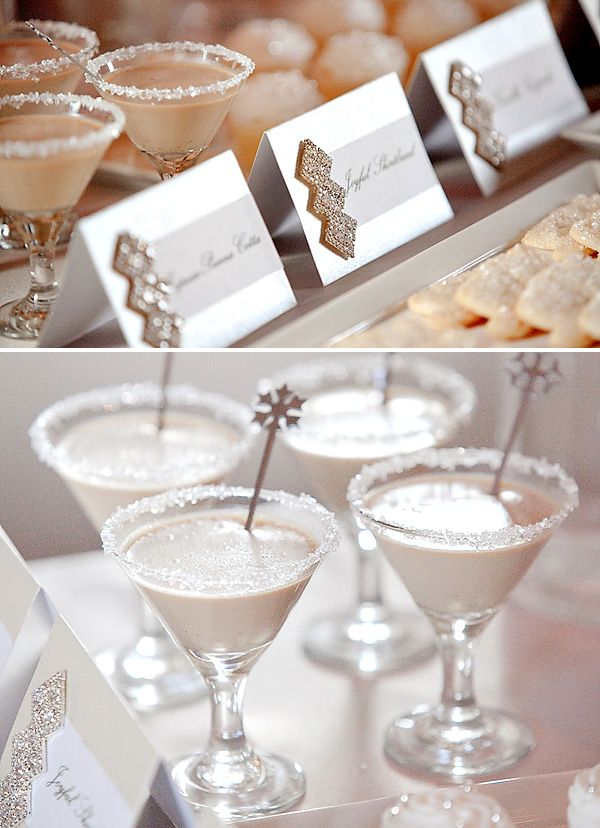 love the sparkly escort cards and swizzle sticks (styling by kristine shin and photos by shawn lee)