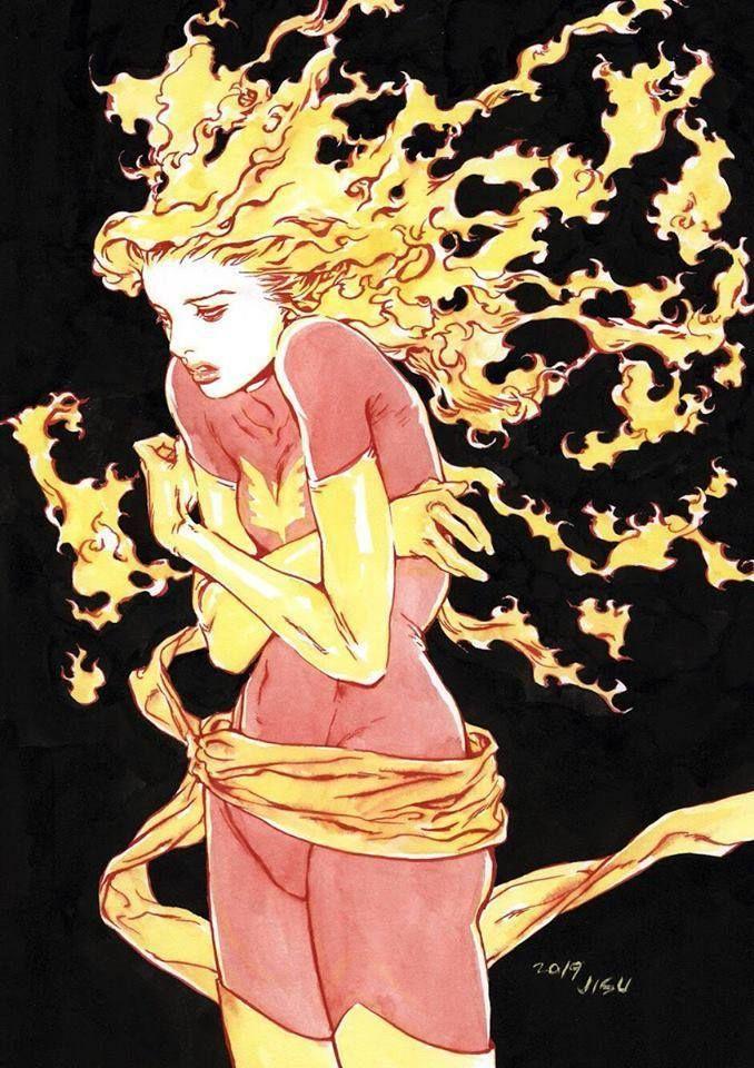 Dark Phoenix Jean Grey By Ji Su Jean Grey Phoenix Dark Phoenix Marvel Comics Art