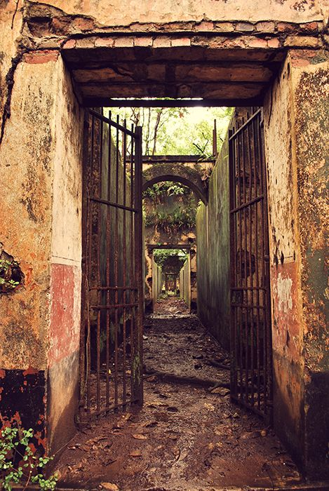 The abandoned prison complex on Isle St. Joseph, French ...