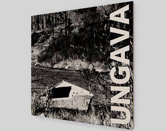 Collection Ungava: la vieille chaloupe. Photographie originale imprimée sur bois.