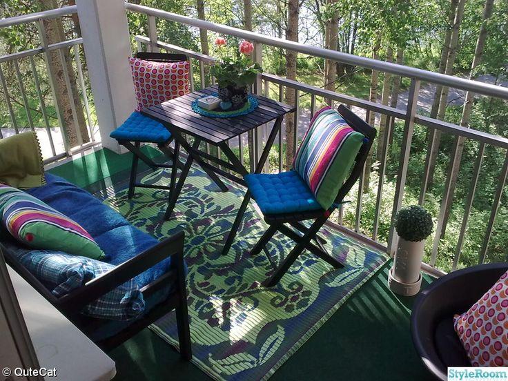 balkong,kuddar,utemöbler