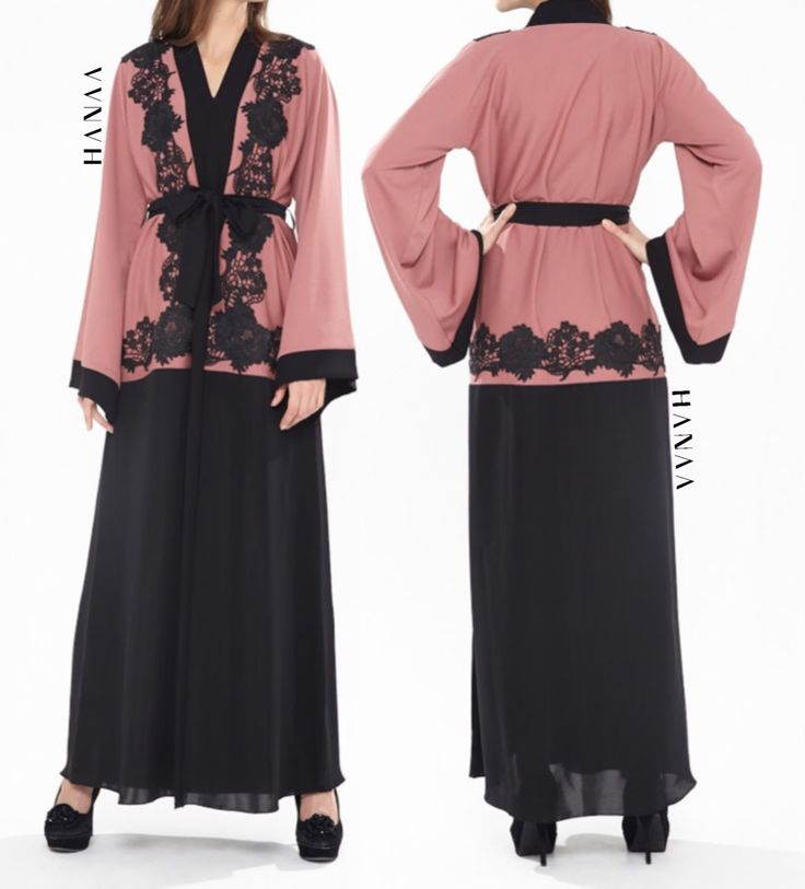 Faryal Lace Open Abaya