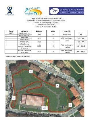 1ª Jornada Clasificatoria Zonal Avilés 2015 de campo a través Juegos Deportivos del Principado de Asturias 1ª Jornada Clasificatoria de campo a través zona Avilés Circuito de Los Campos (Cancienes) Temporada 2015/2016 Fecha: 21 de noviembre de 2015 Relacionado