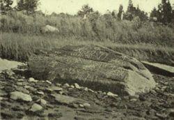Le rocher de Dighton en 1893.