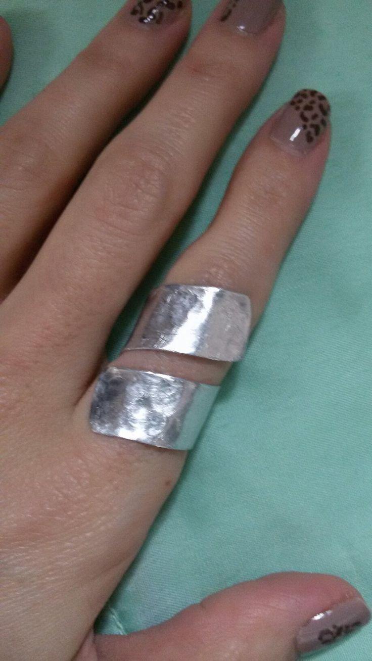 Aluminium ring #handmade