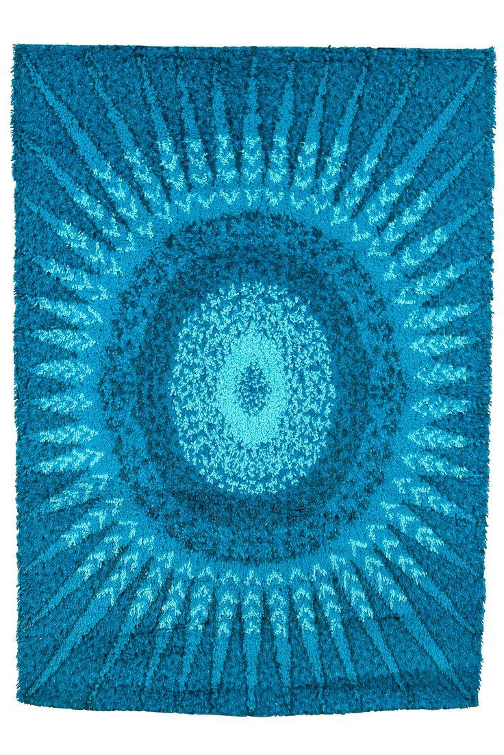 Marjatta Metsovaara; Long-Pile Wool Rug, 1970s