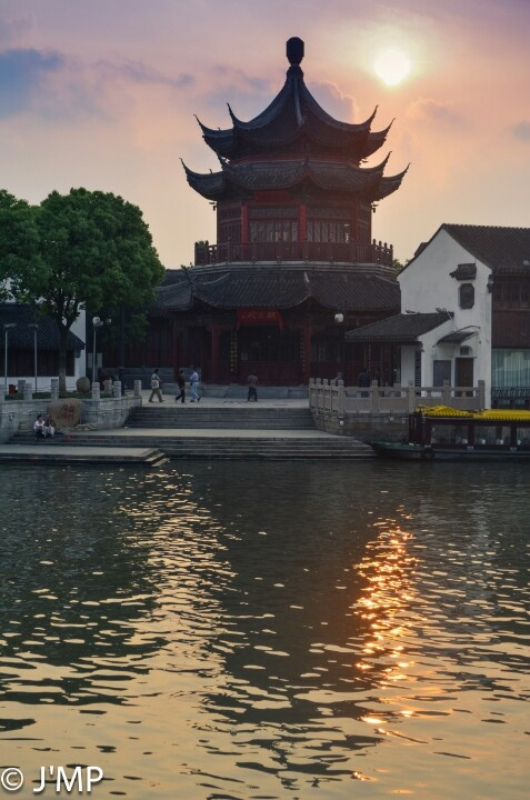 little riverside temple in china  temple