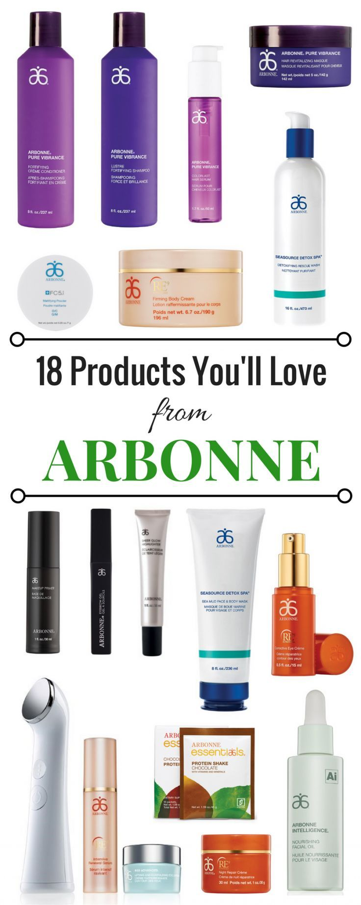 18 Products You'll Love from Arbonne | Makeup, hair, skincare (some anti-aging), bath & body, and nutrition product reviews from Arbonne's non-GMO, vegan, gluten-free, and (some) kosher products! You NEED to try these!