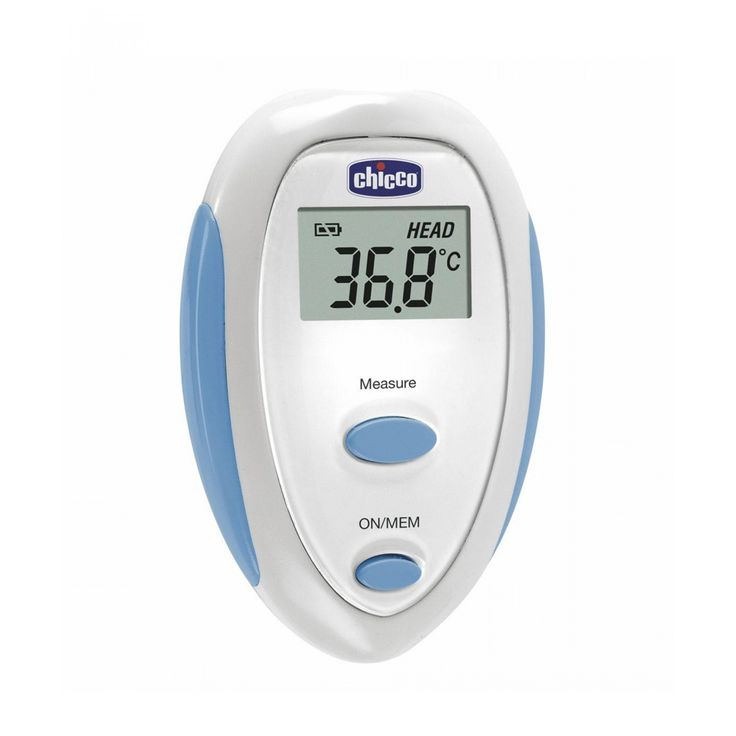 El termómetro Easy Touch Chicco toma la temperatura en contacto con la frente enunos segundosproporcionando lecturas exactas y rápidas. Es un aparatocompacto y fácil de usargracias a la posición de la sonda. Tiene una señal másacústica (alarma de fi