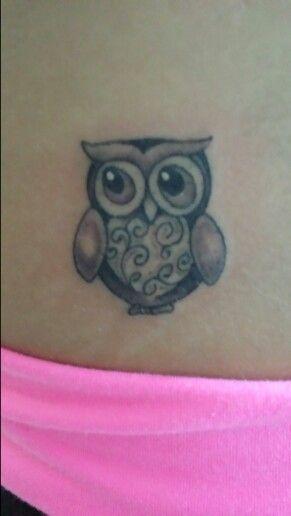 My cute owl tattoo, Hoot!!