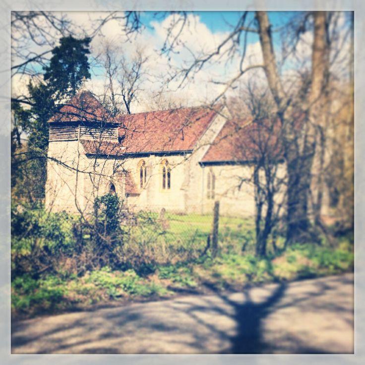 St Swithuns Church, Headbourne Worthy, Hampshire, UK.