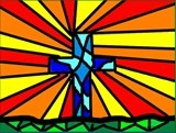 This was a digital art lesson. We explored the history of Stained Glass windows with 4th and 5th grades. We then used the Kidpix program on our iMacs to design our own windows.