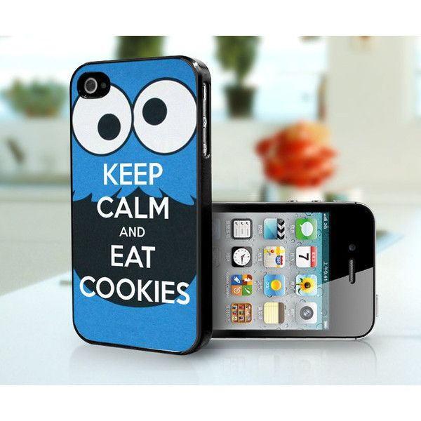 Cookie Monster - iPhone 4, iPhone 4s case (21 AUD) ❤ liked on Polyvore featuring accessories, tech accessories, phone cases, phones, electronics and cases