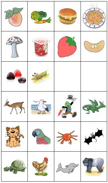 Aqui fica uma atividade de categorização semântica para o fonema /g/.   É uma boa maneira de trabalhar a articulação verbal em conjunto com...