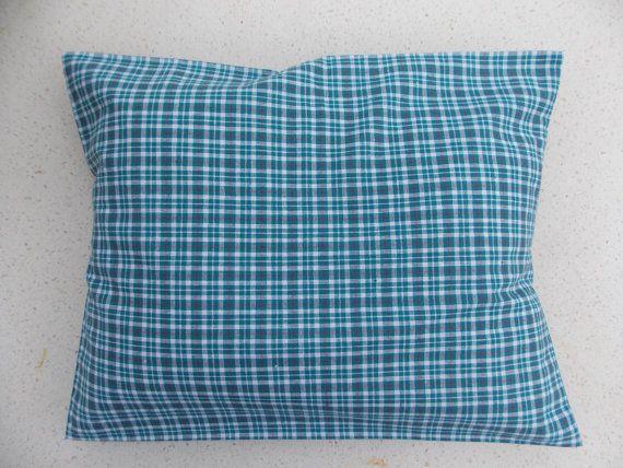 Organic Plaid Heat\Cold pack 14x11x2'' buckwheat hulls pillow handmade by PayaArt
