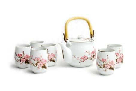 Asian tea set that we carry at Diversions Tea House! My favorite one ever!!!