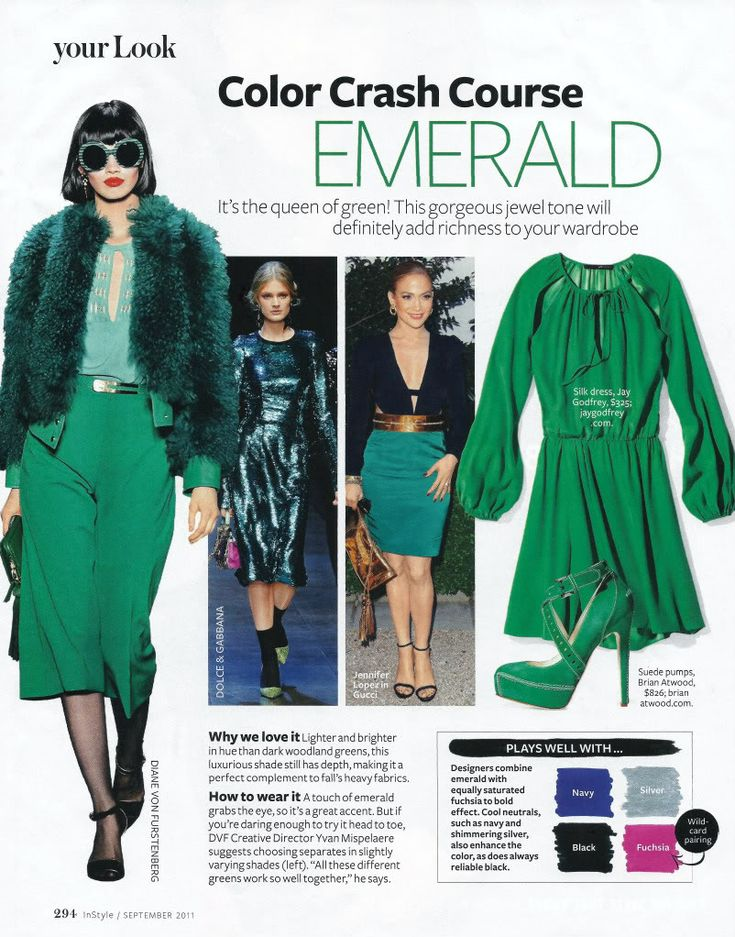 EMERALD... its always been around, on the runways. Elegant. But will become an it color, the new mint. 2013 color.
