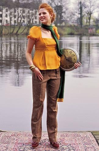 Schnittmuster: Hose - körniger Herren-Tweed - Gerade Hosen - Hosen - Damen - burda style