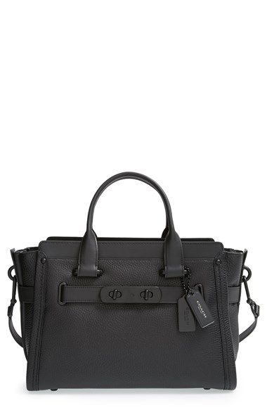 COACH 'Swagger' Pebble Leather Satchel available at #Nordstrom
