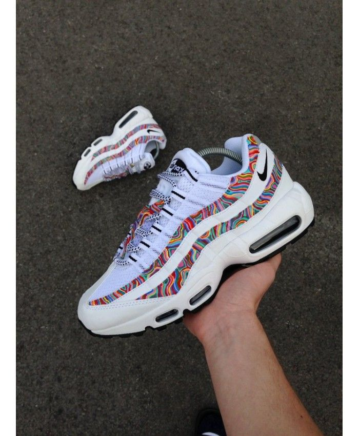 72c41c0e6763 Nike Air Max 95 Custom Trippy Trainers