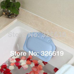 Free Shipping Haizhidian Blue Bathroom Supplies Bathtub Pillow Bath Pillow  Bathtub Headrest Suction Cup Waterproof Bath