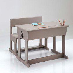 Bureau schrijftafel + schoolbank, Toudou