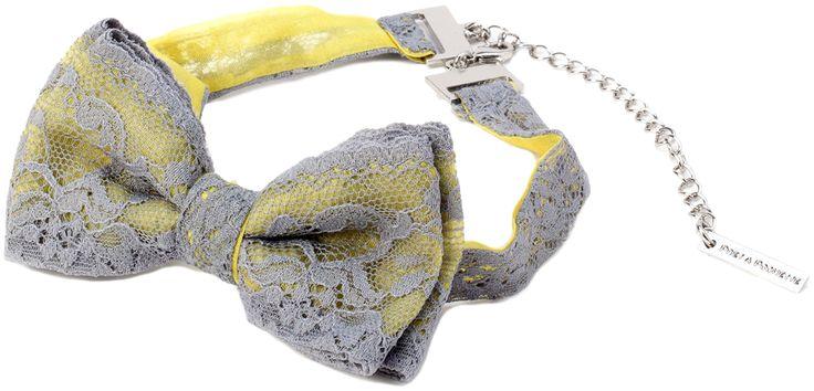 PAPILLON GLAM  Papillon in pizzo e organza di seta 100% con chiusura gioiello in ottone galvanica color nichel (nichel free).  Prodotto Made in Italy.