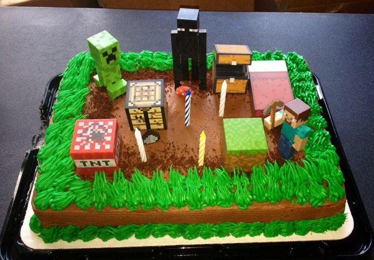 minecraft birthday cake shaws supermarket made the cake and on batman birthday cake supermarket