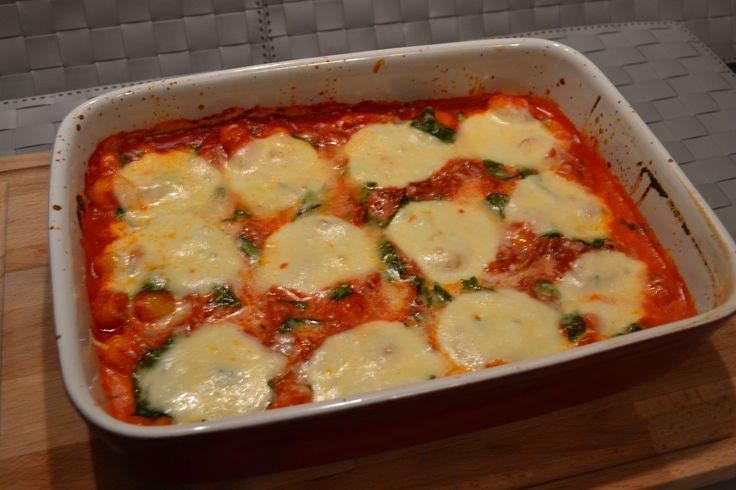 Gnocchi caprese: met tomatensaus, basilicum en mozzarella
