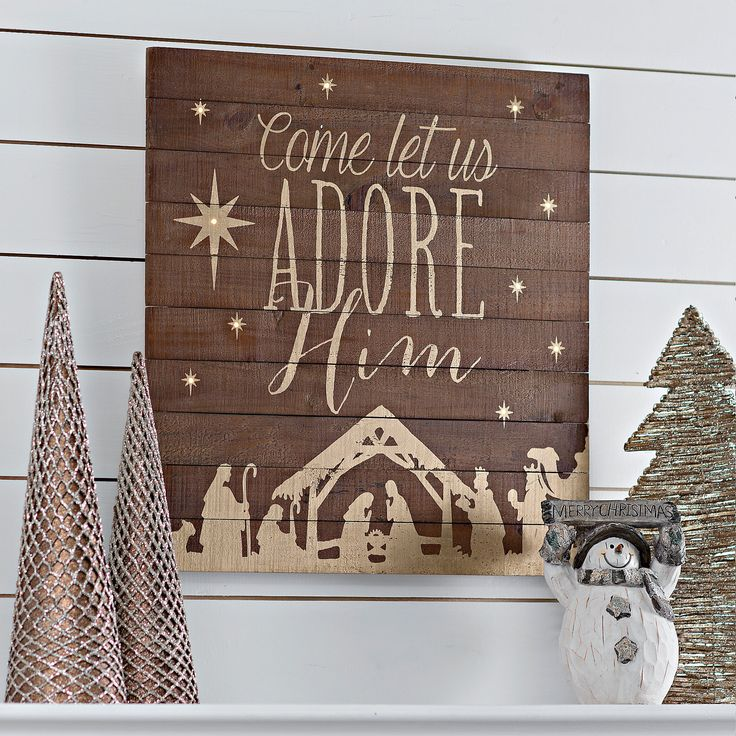 Oh Come Let Us Adore Him Wood Signs Christmas Signs Wood: Best 25+ Wooden Plaques Ideas On Pinterest