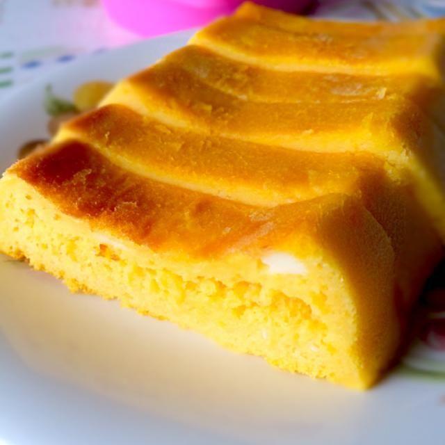 大量のかぼちゃの煮物をアレンジ第3弾( ﹡ˆ ˆ﹡ ) チーズを入れたシュワシュワケーキです୧( •᷃ꇴ•᷃ )୨⋆ 本日の長女さんおやつ♡ - 90件のもぐもぐ - かぼちゃのシュワシュワケーキ by macheriiiangexx