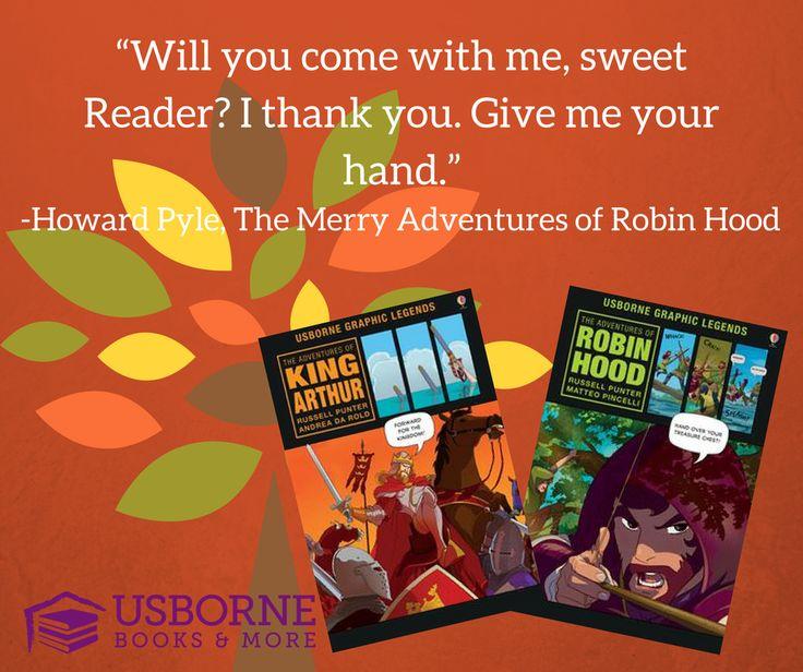 Robin Hood & King Author graphic novels for kids.