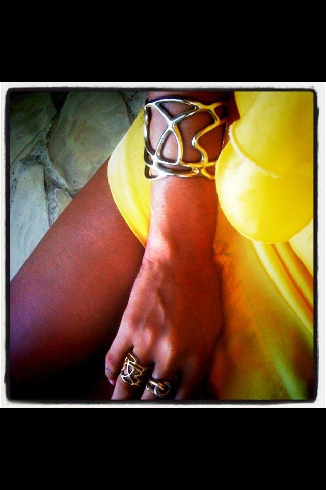 Lines Collection brass bracelet & ring !!! B-Tal jewellery !!!!