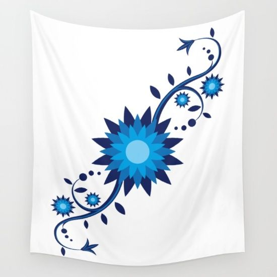 Flowers Wall Tapestry by FishDesigns | Society6