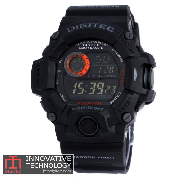jam tangan digitec dg-2064t black orange