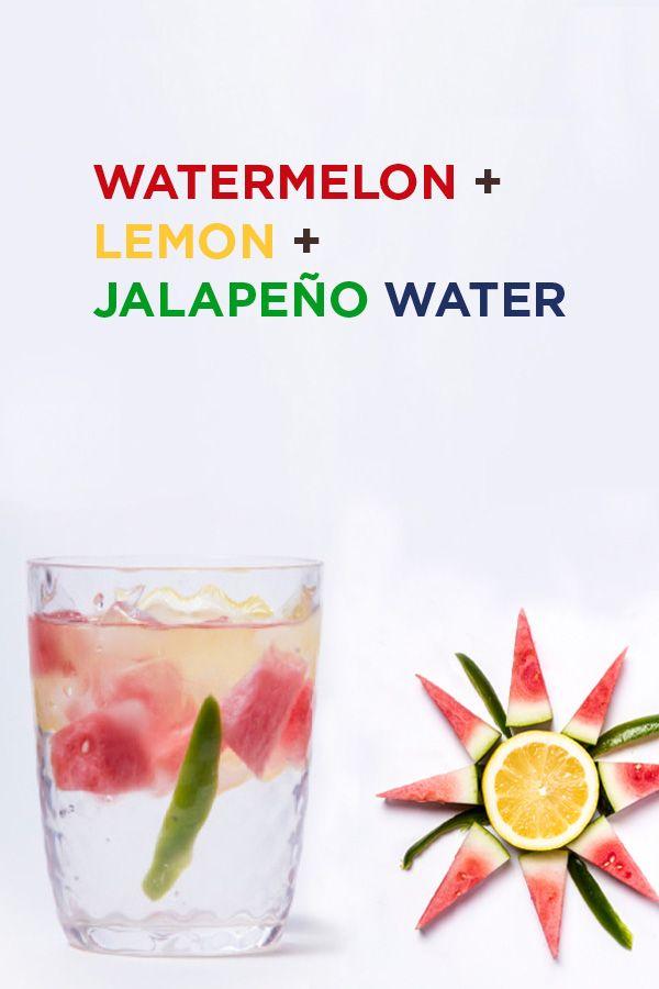 Watermelon Lemon Jalepeno Infused Water Recipe.