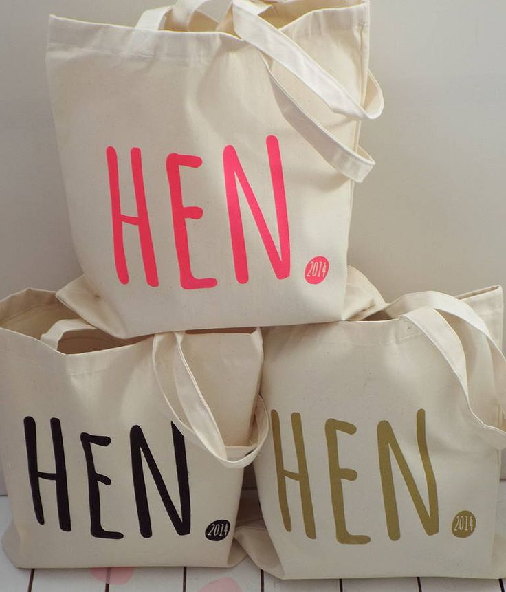 'hen party' wedding tote bag by kelly connor designs knitting bags and gifts | notonthehighstreet.com